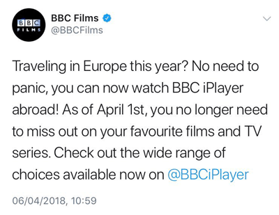 BBC Films tweet