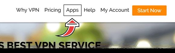 IPVanish Apps Menu
