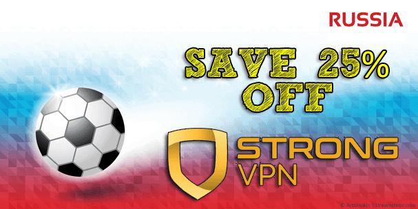 Save 25% StrongVPN