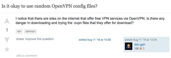 Stack Exchange VPN