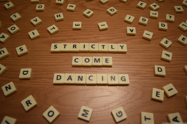 Strictly come dancing scrabble letters