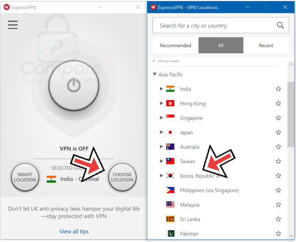 ExpressVPN South Korea