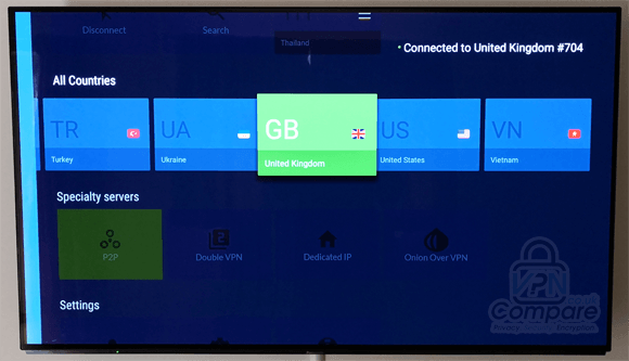 NordVPN Fire TV app