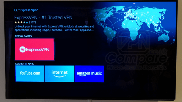 ExpressVPN Fire TV search