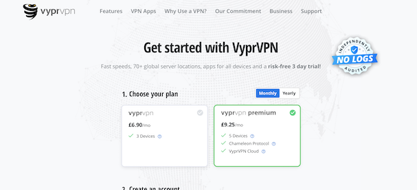VyprVPN Monthly Prices