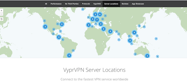 VyprVPN server locations