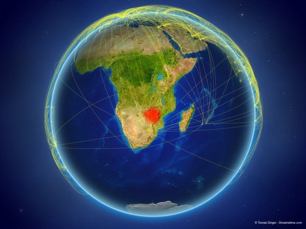 Zimbabwe on Earth with networks