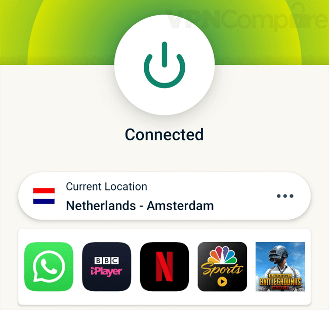 ExpressVPN Android app features