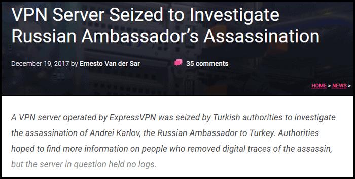 ExpressVPN assassination torrentfreak news