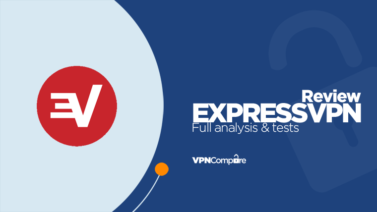 ExpressVPN logo with ExpressVPN Review text