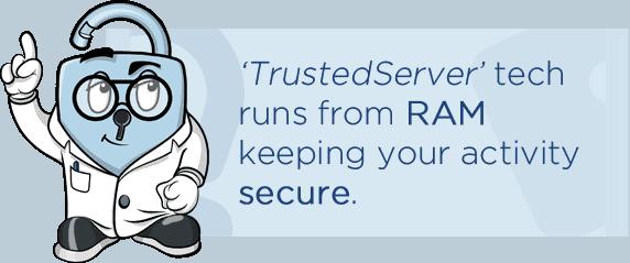 ExpressVPN Trustedserver info box