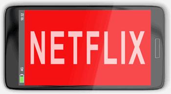 Netflix on a phone