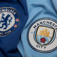 Chelsea and Man City football logos