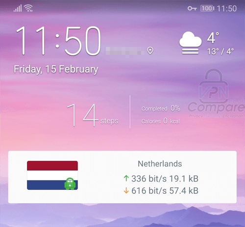 PIA Android Widget
