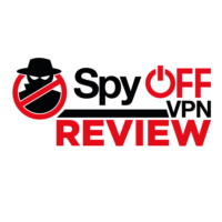 SpyOff VPN logo with review words