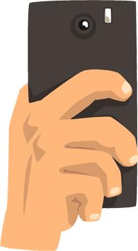 Android phone illustration