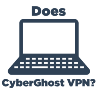 Computer illustration with text Does CyberGhost VPN?