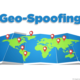 World map with location icons and Geo Spoofing text