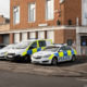 UK Police cars outside police station