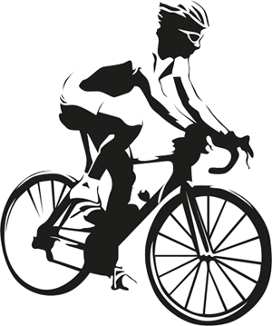 Man cycling illustration