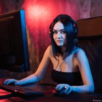 Sexy girl playing PUBG