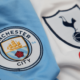 Manchester City and Tottenham club badges