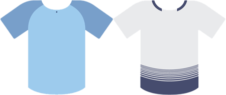 Manchester City and Tottenham kit