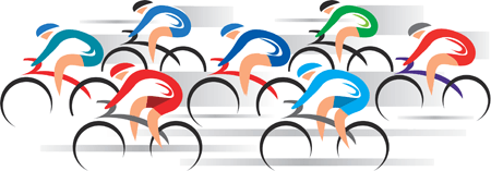 Road cyclists illustration