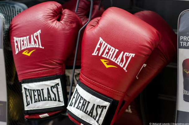Two red boxing gloves