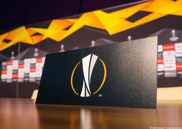 Europa League logo on table