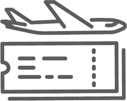 Illustration of a plane and ticket