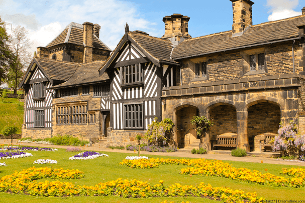 Outside 19th century Shibden Hall