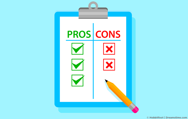 Clipboard with Pros and Cons