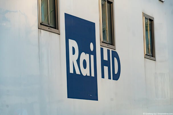 Rai HD TV logo on wall