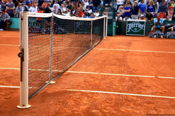 French Open clay tennis court