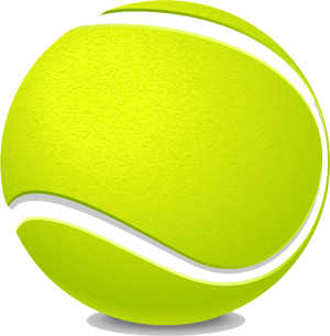 Large yellow tennis ball