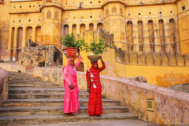 Two Indian women at Amber Fort, Jaipur