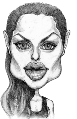 Angelina Jolie hand drawn