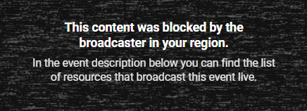 Geo-blocked website message