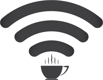 WiFi logo with coffee cup