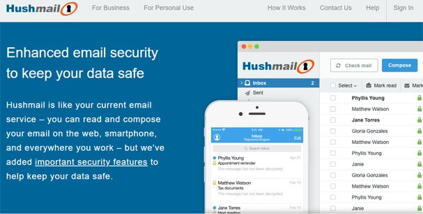 Hushmail website