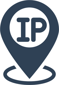 IP text in a location style icon
