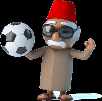 3D render of Moroccan football fan