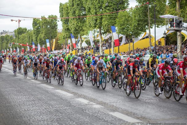 Peloton of the Tour de France