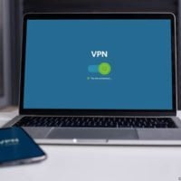 VPN on a laptop and phone