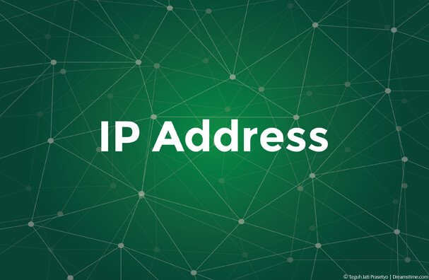 Green background with IP Address text