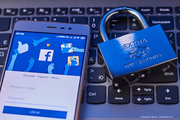 The concept of protecting personal data in the social network Facebook.