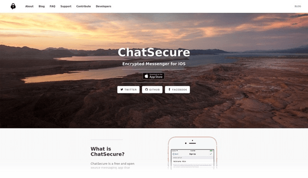 ChatSecure website screenshot