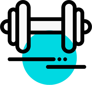 Illustration of a dumbell