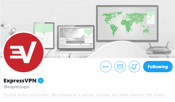 ExpressVPN Twitter header